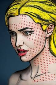 pop art ic book makeup make and female pin up hair elleandra makeup mua motd popart