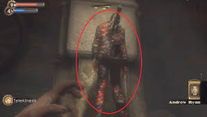 bioshock hanging corpse of ryan s enemy from you