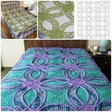 Wedding Ring Crochet Quilt (FREE Pattern) | BeesDIY.com & Wedding Ring Crochet Quilt Free Pattern Adamdwight.com