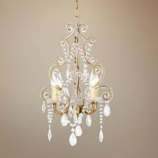 awesome home impressive plug in mini chandelier on leila 11 wide white finish beaded swag