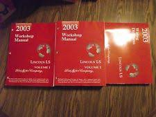 lincoln ls manual 2003 ford lincoln ls factory workshop manual wiring diagrams 3