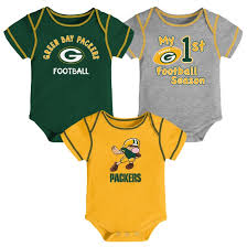infant green bay packers 3 pc onesie