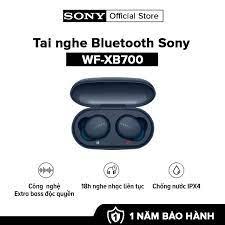 [HÀNG CHÍNH HÃNG - TRẢ GÓP 0%] Tai nghe True Wireless Sony WF-XB700 l Công  nghệ EXTRA BASS™ l Google Assistant l Chống nước IPX4 l Pin 18h