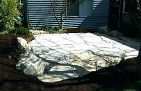 patio building a flagstone patio pictures patios example portfolio work with bark border