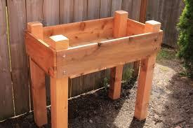 cedar raised bed legs gardening outdoor diy homes interior 66968