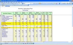 Excel. Budget Worksheet Excel: Personal Budget Spreadsheet Template ...