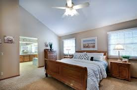 Traditional Master Bedroom With Ceiling Fan By Ray Fernandez