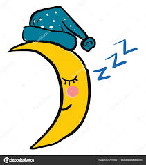 Emoji Of The Sleeping Crescent Moon Vector Or Color Illustratio
