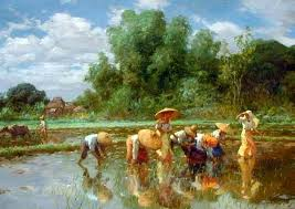 planting rice by fernando amorsolo