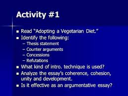 the wonders of persuading your readers in academic writing ppt activity 1 adopting a vegetarian diet identify the following