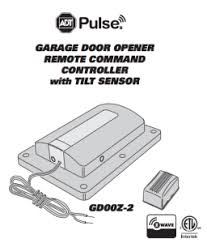 z wave garage door 2ADT Pulse Garage Door Remote Controller ZWave by Linear GD00Z