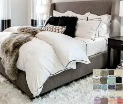 linen duvet cover with piping finish