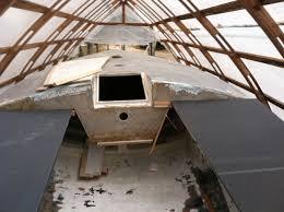 bushranger inside the hoop shed at vince s bush boat yard