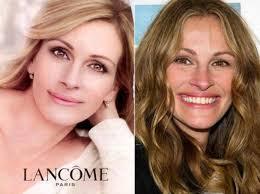 l oreal is under fire for using digitally altered images of julia roberts