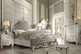 Vintage Gray Bone White King Bedroom Set 5Pc Acme Furniture 21147EK ...