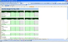 Personal Budget Family Template Sample Home Exceladsheet Monthly