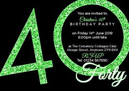 40th Birthday Invitations 40th Birthday Party Premium Invite 24 A6 Invitation Pack 1st For Print