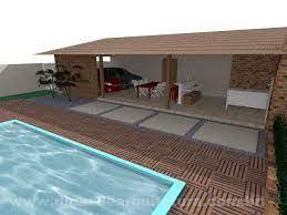 » quintal c/ 03 churrasqueiras; Garagem Com Churrasqueira Dicas De Arquitetura