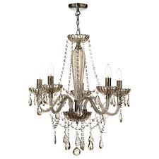 raphael five light chandelier with champagne glass