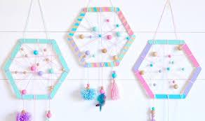 diy hexagon dreamcatchers for kids