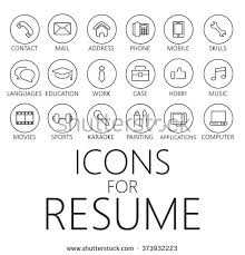 Resume Icons Custom Vector Illustration In Rank Mrank Thin Line Icons Pack For CV
