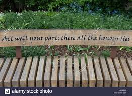 poet on bench stock photos poet on bench stock images alamy an alexander pope quote from an essay on man on a bench in twickenham
