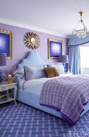 Gorgeous purple and blue bedroom.