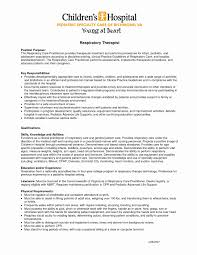Respiratory Therapist Job Description Resume