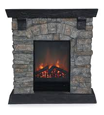 main image for rockbridge stacked stone electric fireplace heater