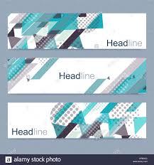 Desain Banner Geometric Set Of Modern Vector Banners Abstract Design