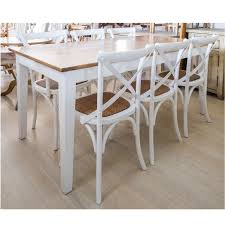dining table white timber top