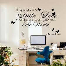 Wall Writing Decor Wall Sticker English Writing Removable Decals Showcase Home Decor