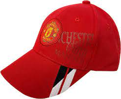 Amazon.com: Manchester United Cap for Kids, Licensed Manchester U. JR  Adjustable Baseball Cap Red: Clothing