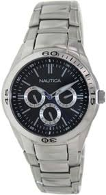 brand new and authentic nautica watches for men on nautica nac 100 classic multifunction steel men s watch n13617g