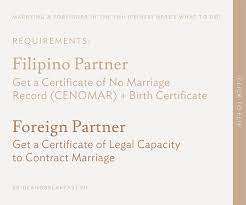 requirements to marry a foreigner