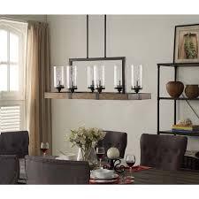 rectangular dining room lighting. vineyard 6light metal and wood chandelier rectangular dining room lighting r
