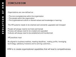 evolution of human resource management essay