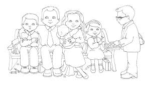 Family Coloring Page Holy Family Coloring Pages Guinea Pig Coloring