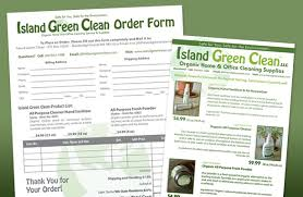 cleaning service advisement flyers island green green corporate company branding business marketing