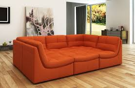 fascinating orange leather couch 9