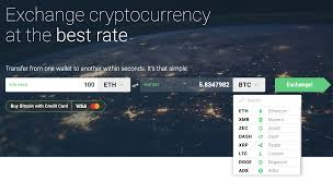 changelly currency selection