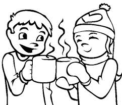 Small Picture Coloring Pages Winter Hot Chocolate Winter Coloring pages of