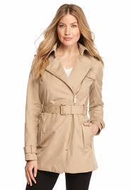 michael kors zip detail trench jacket tan khaki women s clothing coats jackets michael