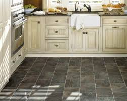 Stone Floors In Kitchen Pickled Oak Cabinets Dark Floors Best Black Vinyl Sheet Flooring