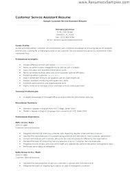 Resume Objectives Good Resume Objectives For Customer Service 27