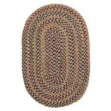 winchester oatmeal 6 ft x 9 ft oval braided area rug
