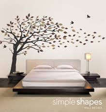 vinyl wall art decal sticker blowing leaves tree by simpleshapes on vinyl wall art stickers with 39 tree wall art decals family inspirational love tree wall art