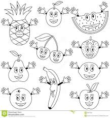 W For Watermelon Fruit Coloring Pages Cute Drawing Kids Fruit Of