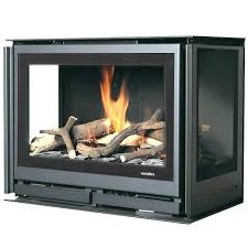 double sided wood burning fireplace insert 2 3 two ins stove canada