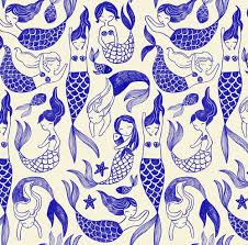 Mermaid Pattern Extraordinary Mermaid Pattern For Tea Collection Graphisme Illustration